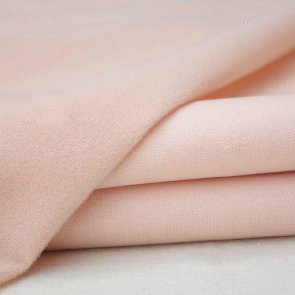 50*150cm de carne colorida diy tecido de pele de boneca fibra de alta densidade nap telas tissus retalhos costura têxteis artesanal costura