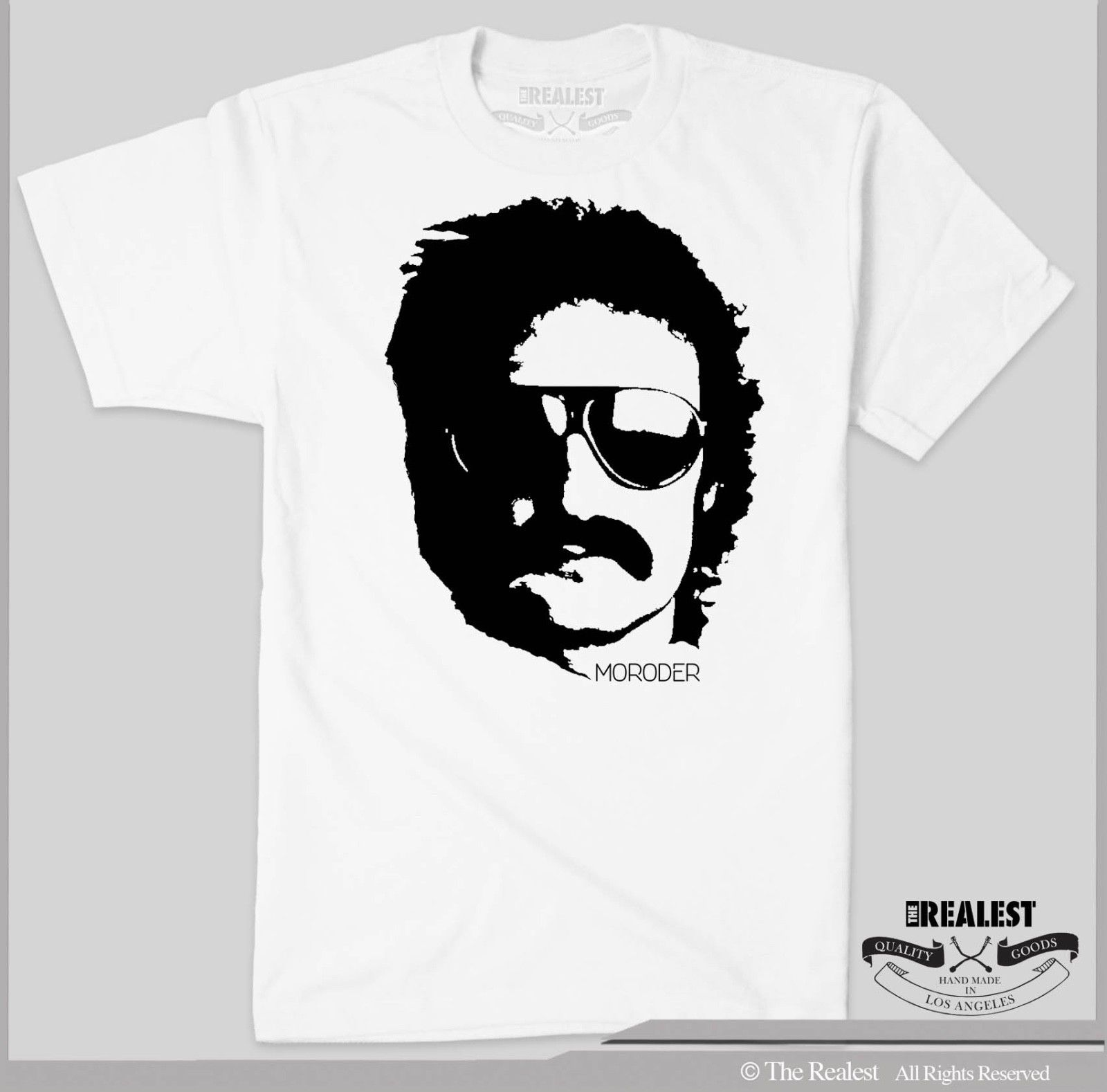 Giorgio Moroder T Shirt Godfather of Dance Electro Disco DJ Harajuku Tops Fashion Classic Unique t Shirt gift free shipping in T Shirts from Men 39 s Clothing