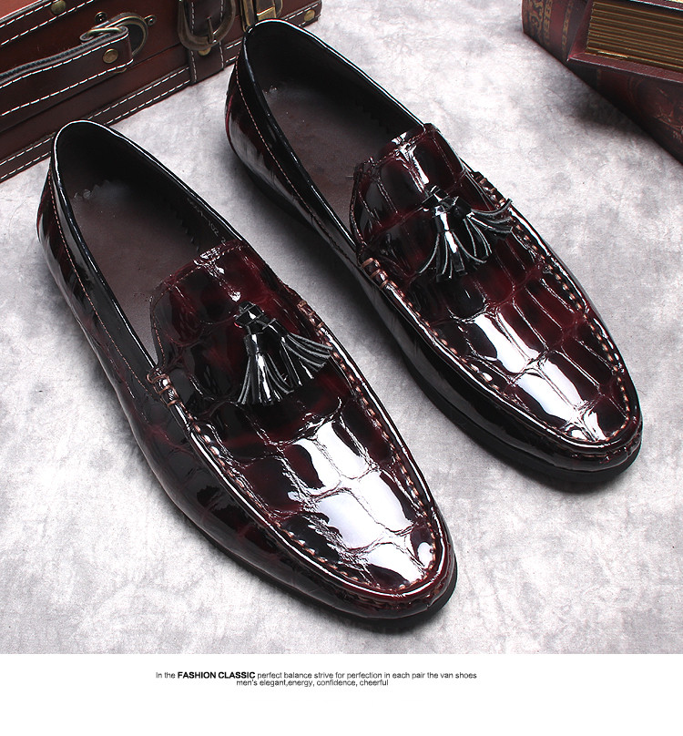 Italian Business Mens Dress Oxfords Shoes 2018 Spring Autumn Slip On Tassels Mens Casual Loafers Flats Mens Derby Oxfords Shoes 2016 luxury mens goodyear welted oxfords shoes vintage boss brogue shoes italian mens dress shoes elegant mens gents shoes derby