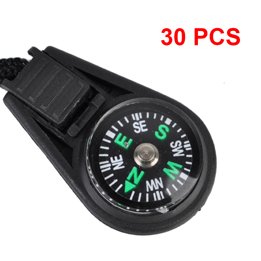 30pcs Mini Portable Compass Compass Liquid Filled Outdoor Compass Camping Hiking Pocket  Navigator Key Chain Backpack Pendant mini kompas sleutelhanger