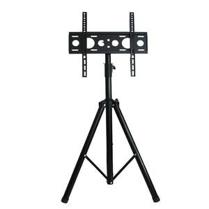 Image 2 - Height Adjustable TV Floor Tripod Stand 15kg Tilt Swivel LCD Monitor Portable Tripod Mount Mobile TV Lift Holder VESA 400x400mm