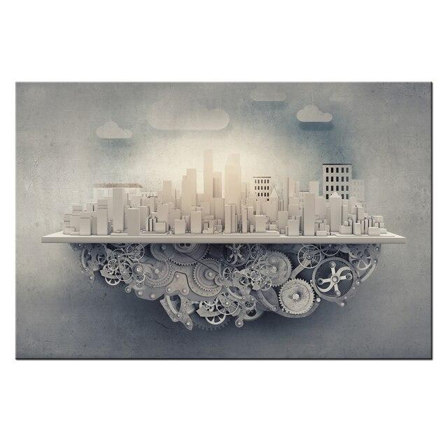 Wunderbar HD Segeltuchwandkunstdrucke Städtischen Power Moderne Abstrakte Malerei  Wohnkultur Für Schlafzimmer Moderne Neue Design Büro Dekoration