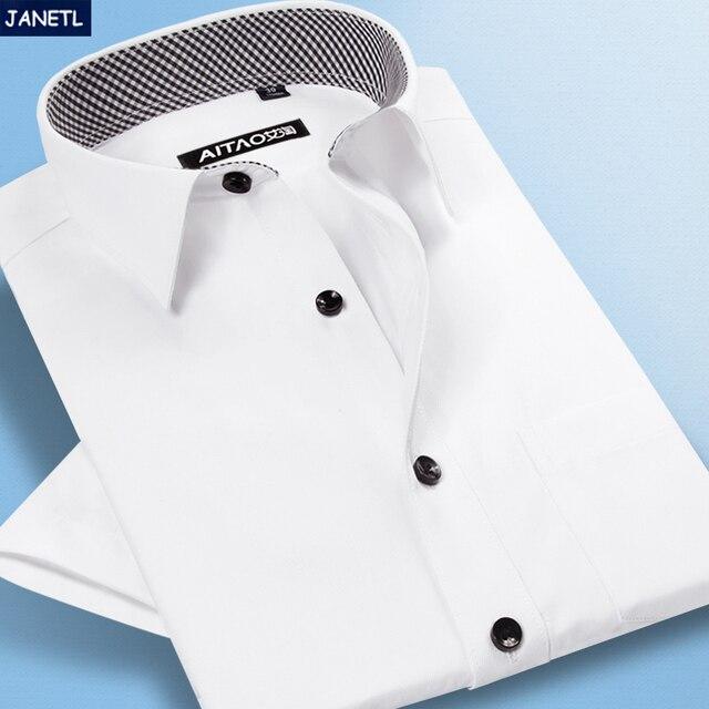Brand-clothing Men Shirt Short Sleeve Shirts Camisa Masculina Work Wear Casual Mens Clothing Mens Dress Shirts New 2017