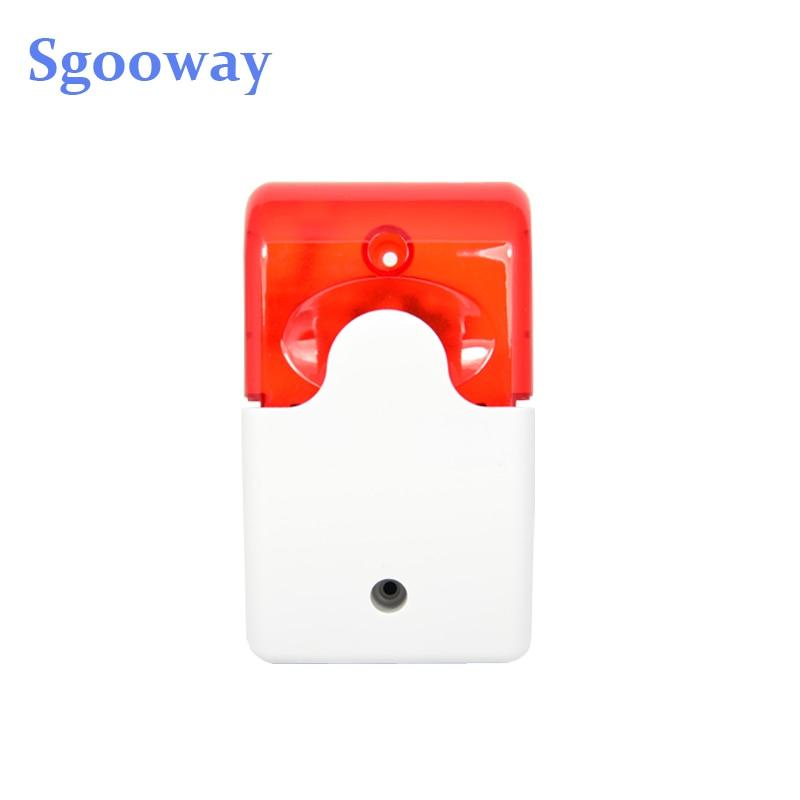 Sgooway Flash LED Strobe Light Siren 12V Work For GSM PSTN Home Security Voice Burglar Alarm System
