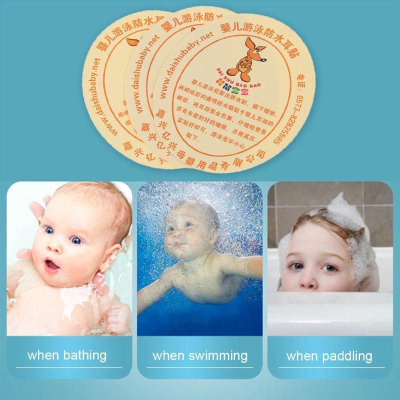 Mutter & Kinder Ohr Spritze 10 Pcs Baby Infant Neugeborenen Bad Schwimmen Wasserdichte Ohr Aufkleber Fügen Kinder Ohrstöpsel