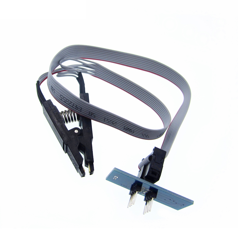 1pc SOIC8 SOP8 Test Clip For EEPROM 93CXX/25CXX/24CXX in-circuit programming on USB Programmer TL866CS TL866A EZP2010 Newest 20 шт sop8 so8 soic8 smd dip8 адаптер печатной платы конвертер двойной сторонам несокрушимая