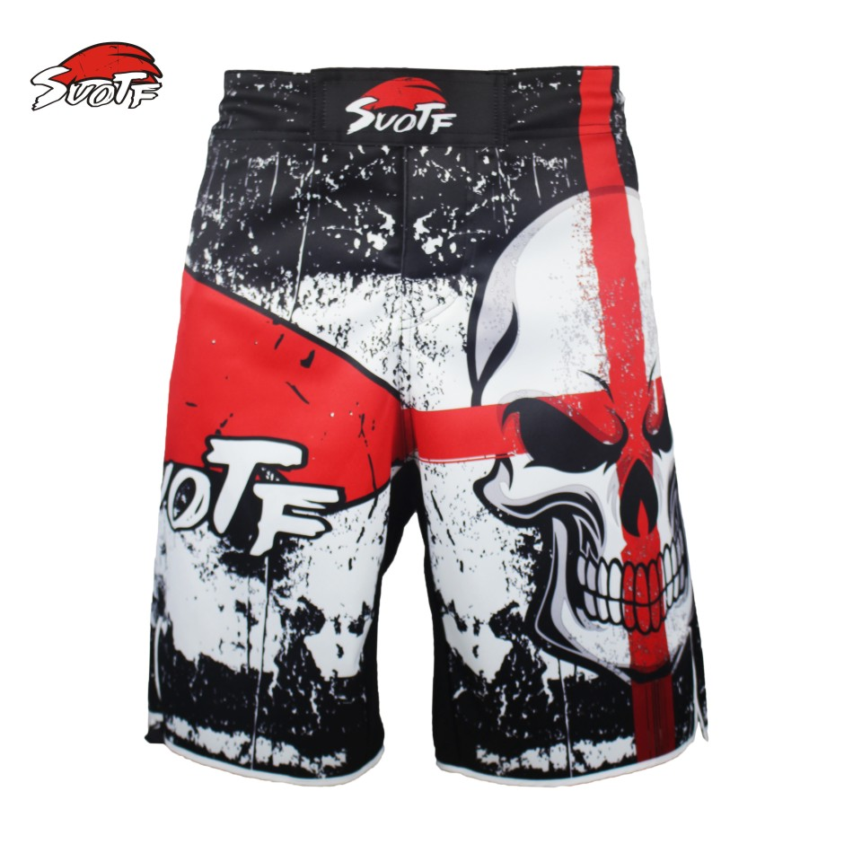 SUOTF MMA Shorts Fight  Muay Thai kick boxing gel cage pants Boxing Martial Art