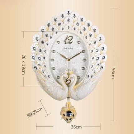 Jam Dinding Baru Ruang Tamu Jam Nordic Merak Gantungan Meja Bisu Besar  Kamar Tidur Retro Dekorasi Dinding Kreatif Jam di Wall Clocks dari Rumah    Taman ... 2e29875785