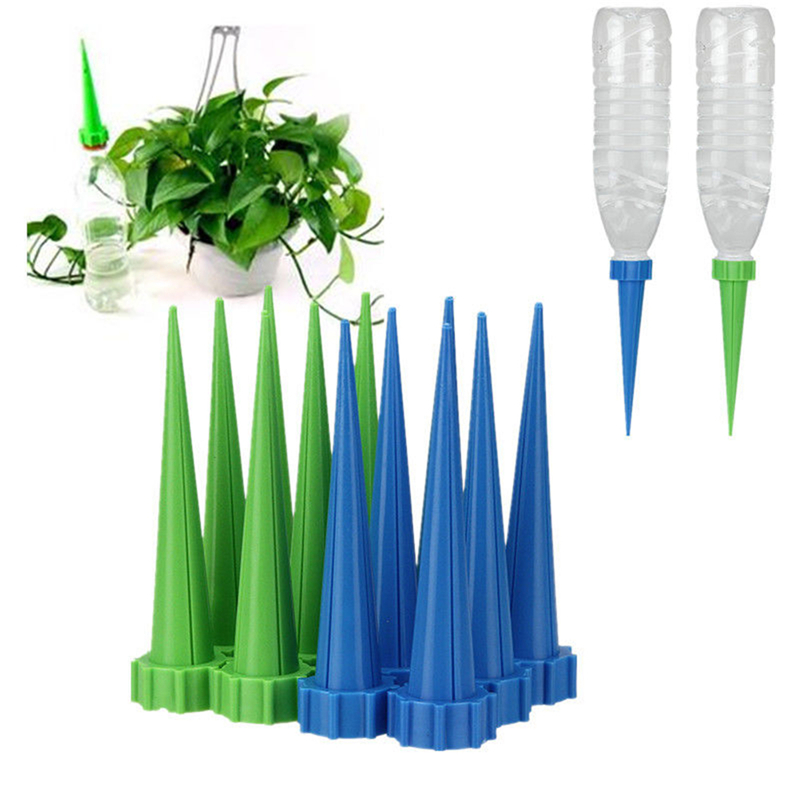 4x Automatic Watering Irrigation Spike Garden Plant Flower Drip Sprinkler Water Traveling Bathroom Fixtures Home Improvement