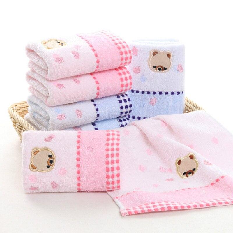 New 25*50CM Baby Cotton Towel Cartoon Bear Kids Bathing Towels Comfortable Washcloth Handkerchief For Infant Feeding Wipe Towel