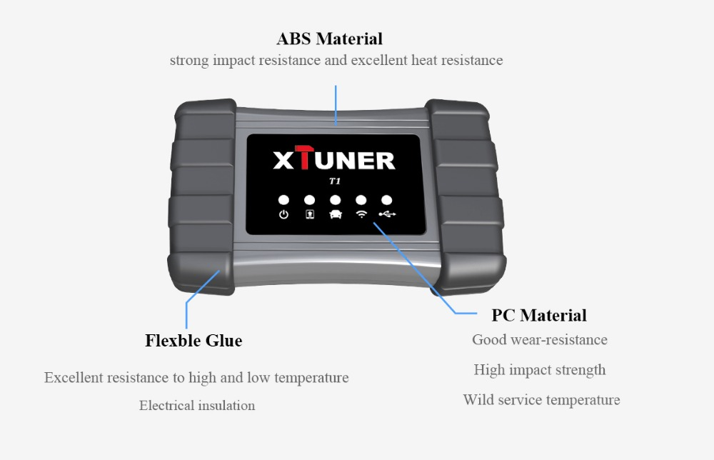 XTUNER Vpecker T1 v8 5 Diesel Heavy Duty Trucks Diagnostic Tool Xtuner T1  WIFI Auto Scanner with Airbag DPF ABS OBD2 Scanner