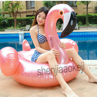 Inflatable swimming ring Flamingo floating row inflatable mount floating bed floating row children adult swimming ring 1pc