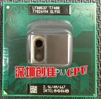 Oryginalny procesor intel CPU laptop Core 2 Duo T7400 4 M Cache Socket 479/2.16 GHz/667/Dwurdzeniowy procesor Laptopa wsparcia 945