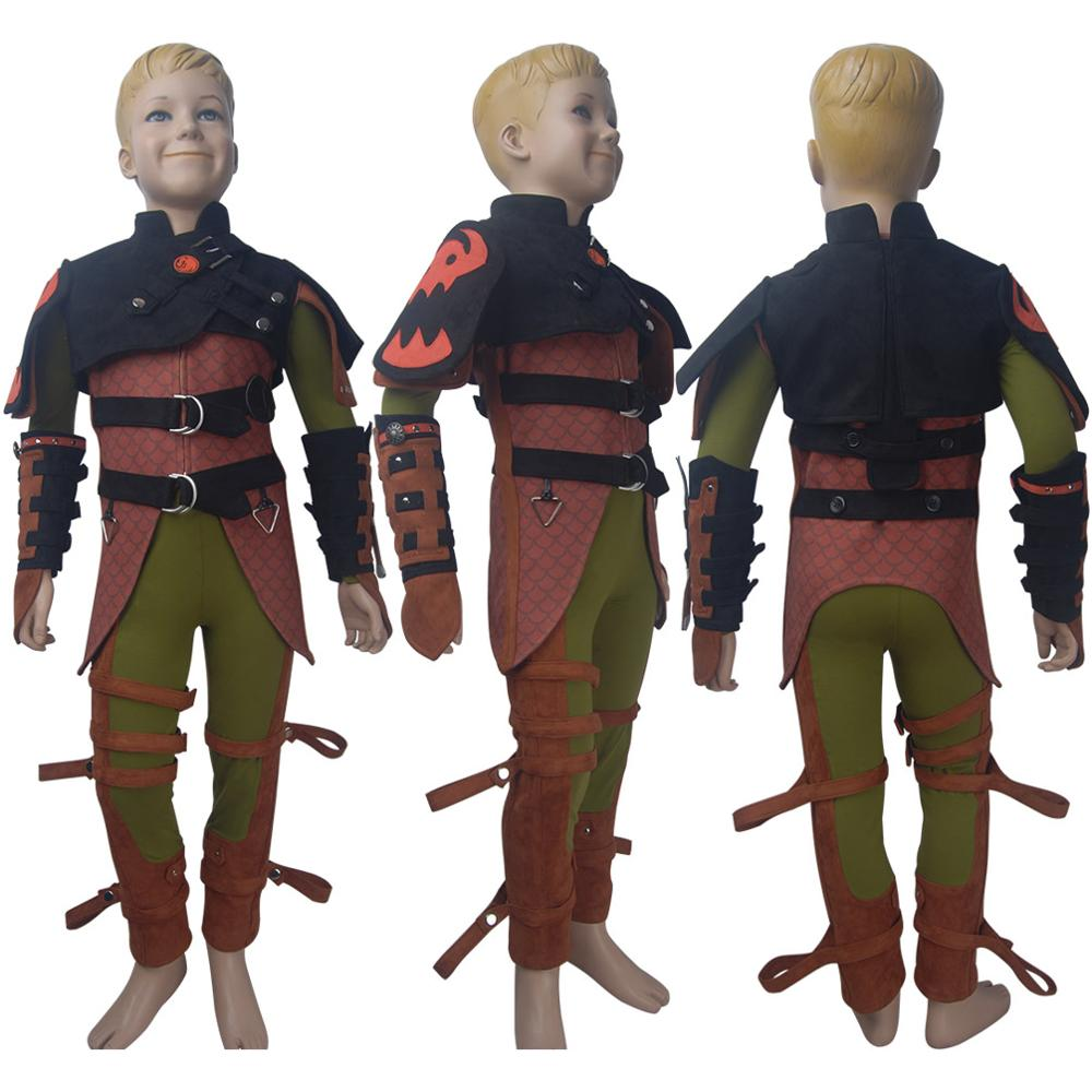 Enfants garçons comment former votre Dragon: le monde caché hoquet Valka cosplay costume Halloween costume X'mas anniversaire saint valentin