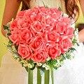 Бесплатная Доставка 24 шт. цветок розы 11 цвет Искусственный невесты Руки Холдинг Розы Свадебный Букет buque де Q89