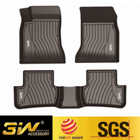 Car floor mat For benz GLC with 3w Customized Special tpe,black