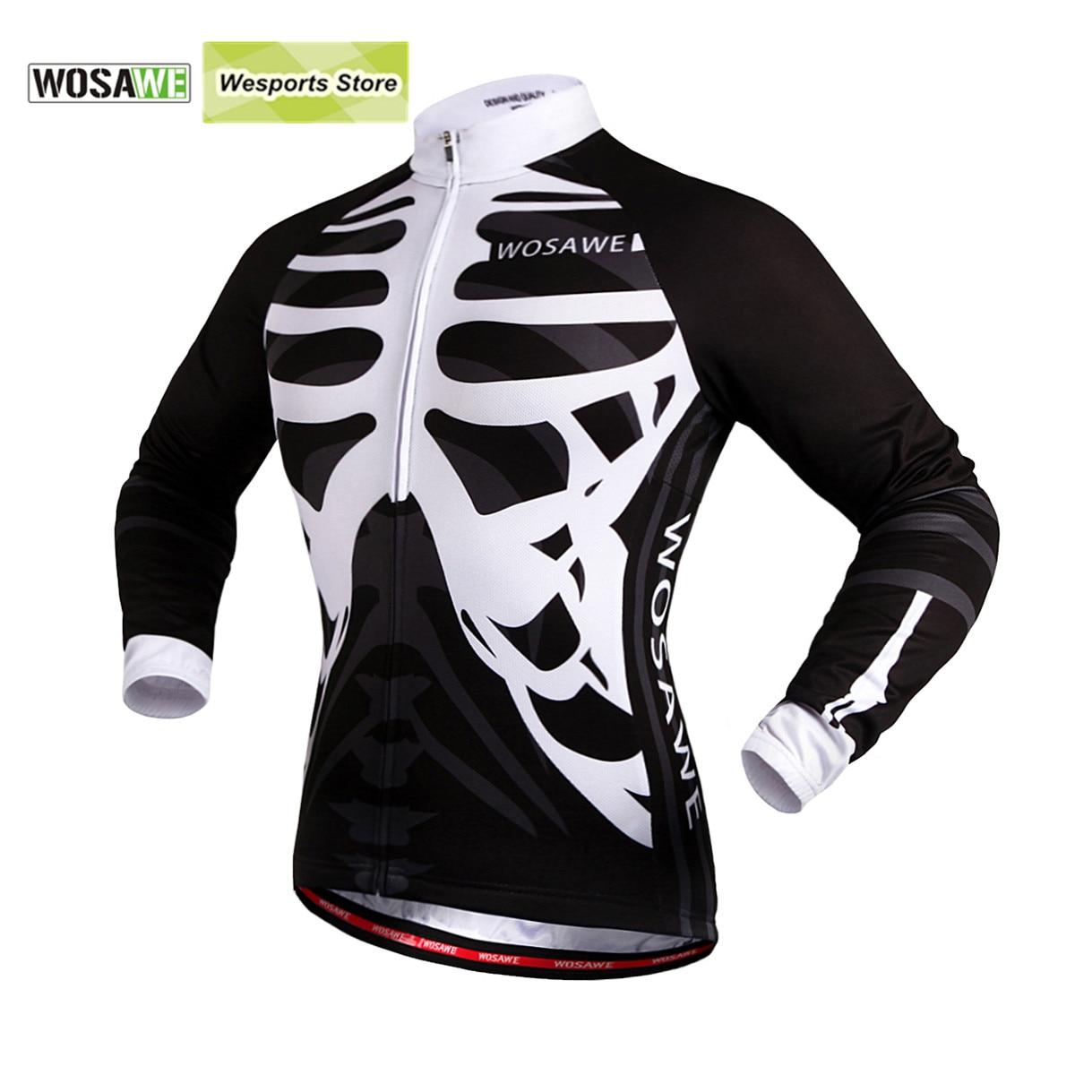 Prix pour WOSAWE Automne Hommes de Maillots de Vélo De Moto Motocross Racing DH Descente VTT Vélo t-shirt Jersey Porter Vélo Vêtements