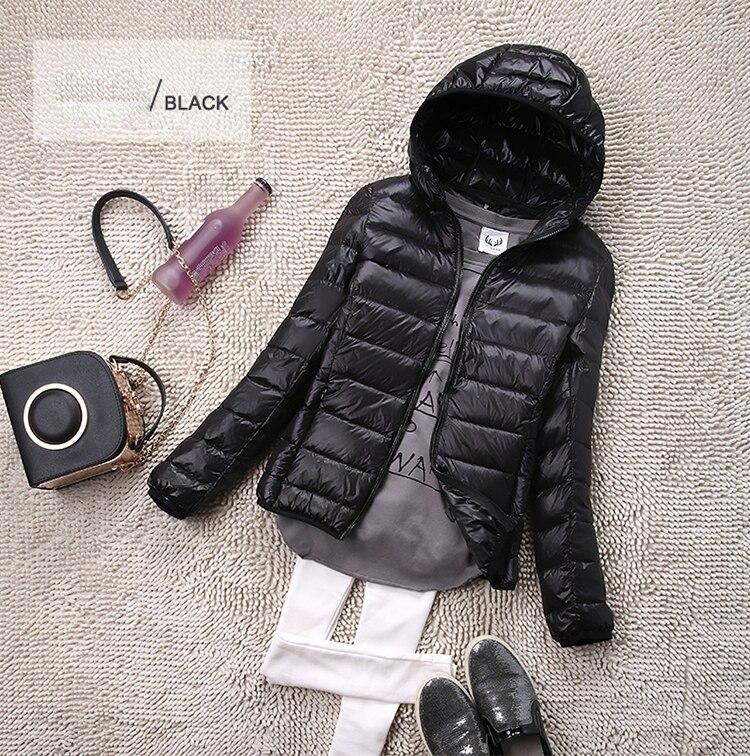 SEDUTMO Winter Plus Size 4XL Womens Down Jackets Short Ultra Light Duck Down Coat Hooded Puffer Jacket Autumn Parkas ED034 12