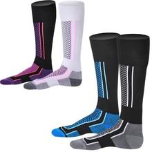 Новинка, высококачественные мужские и женские лыжные носки, зимние уличные спортивные носки для сноубординга, пеших прогулок, лыжные носки, теплые толстые хлопковые Термо носки