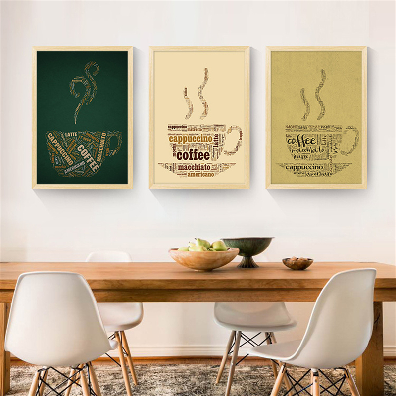 Modern French Coffee Quotes Posters Nordic Kitchen Living Room ...