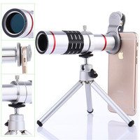 Telescope Lens 7in1 Camera Photo Universal Clips 18X Optical Zoom Lente+Bluetooth Shutter+Telephoto Lenses For iPhone Smartphone