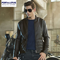 Port&Lotus Men Leather Wool Liner  Jacket Thick Velvet Inside Coats Winter Brand Clothing Mens Motorcycle Jacket218HDLB8611