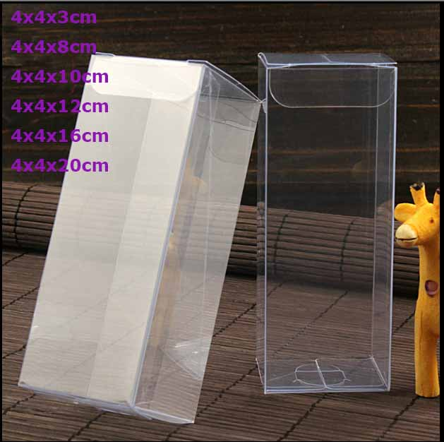 Wholesale 10pcs=1lot Clear PVC Custom Box Packing Wedding/Christmas Favor Candy/Apple/Gift/Candle/Dry Fruit Toys Box 4x4xHIGH