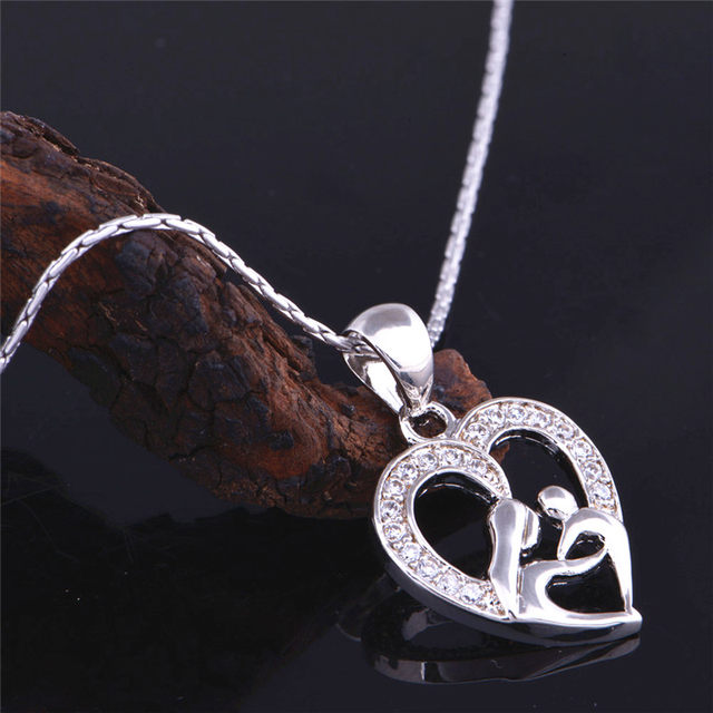 Online shop almei fashion crystal heart mothers daughter pendant almei fashion crystal heart mothers daughter pendant necklace for women female mothers day gift trendy 2017 charm jewelry n595 aloadofball Choice Image