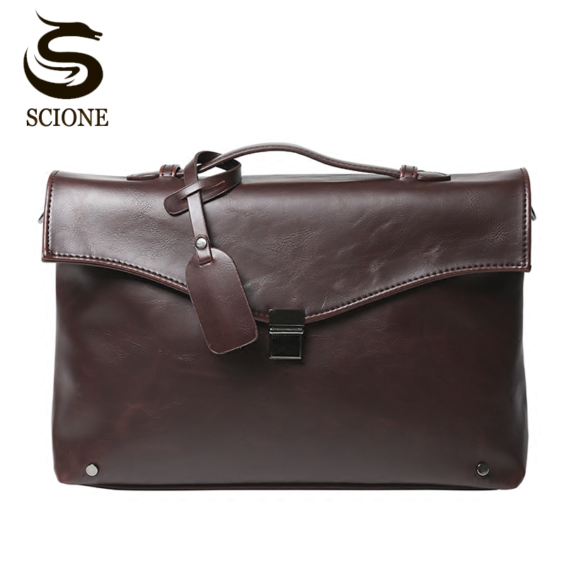 Mens Briefcase Bags Shoulder Crossbody Bags For Men Business Fashion Messenger Bag Male Casual PU Leather Handbags Dropshipping