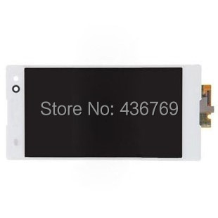 ФОТО 10pcs LCD Display Touch Screen Digitizer Assembly for Sony Xperia C3  D2533 D2502 S55U S55T Panel Glass Lens black white
