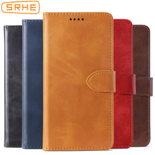 SRHE Flip Cover For Huawei Honor 7C Russia AUM-L41 5.7 Case Leather With Magnet Wallet LND-L29 5.99