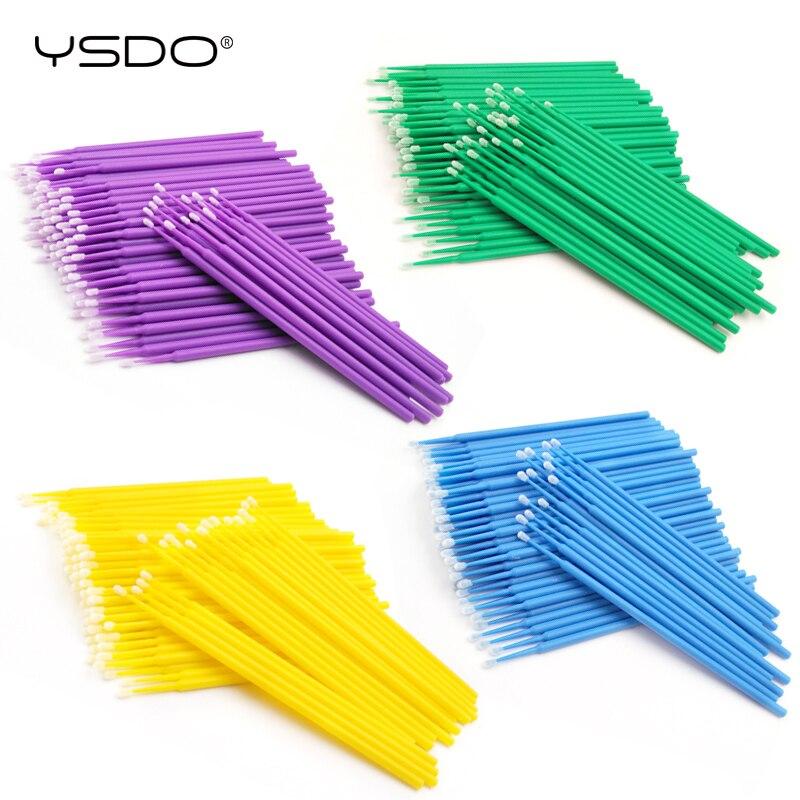 100 PCS Disposable Cotton Swab Eyelash Extension Tools Mascara Applicator Brush Lashes Extension Makeup Applicator Remove Tool