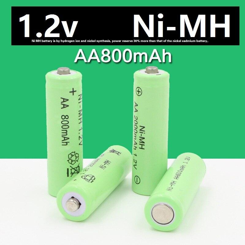 4*14500 piles rechargeables (pile AA) 1.2 v 800mAh Lithium Li-ion batterie lampe de poche laser 14500 1.2V 800MaH aa batterie