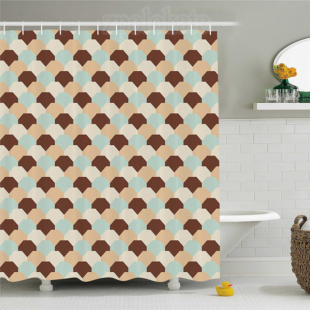 abstract shower curtain entwined comb like mesh pattern hexagonal rh aliexpress com bedroom decor stores bathroom decor sets at walmart