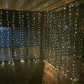 Sincelo levou cortina de 3 M x 3 M 300 leds luz da corda de fadas 300 lâmpada Xmas Do Casamento Do Natal Fora de casa jardim festa guirlanda decoração 110 V 220 V