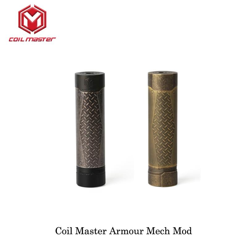 Original Coil Master Armour Mech Mechanical Mod Black Color 510 Thread 18650 Battery Electronic Cigarette Vape