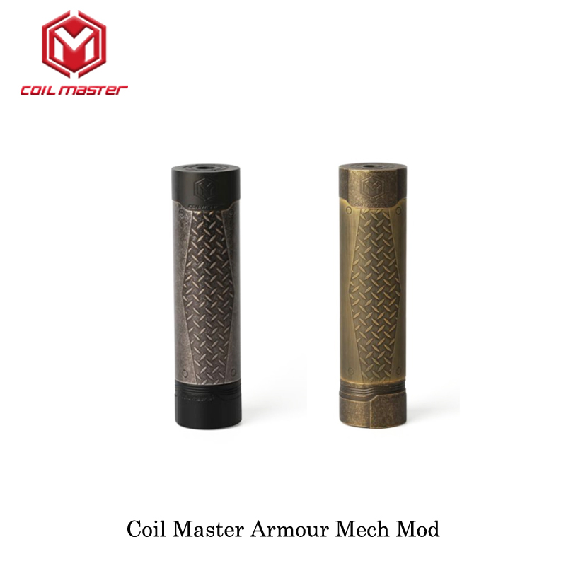 Original Coil Master เกราะ Mech Mod Mod สีดำสี 510 ด้าย 18650 แบตเตอรี่บุหรี่อิเล็กทรอนิกส์ Vape Mech Mod ทองเหลือง-ใน ตัวจุดบุหรี่ไฟฟ้า จาก อุปกรณ์อิเล็กทรอนิกส์ บน AliExpress - 11.11_สิบเอ็ด สิบเอ็ดวันคนโสด 1