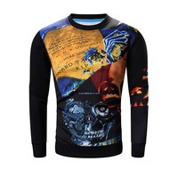 HOT SELLING New Trendy Special 3D Print Long Sleeve Cool T Shirt O Neck Really High