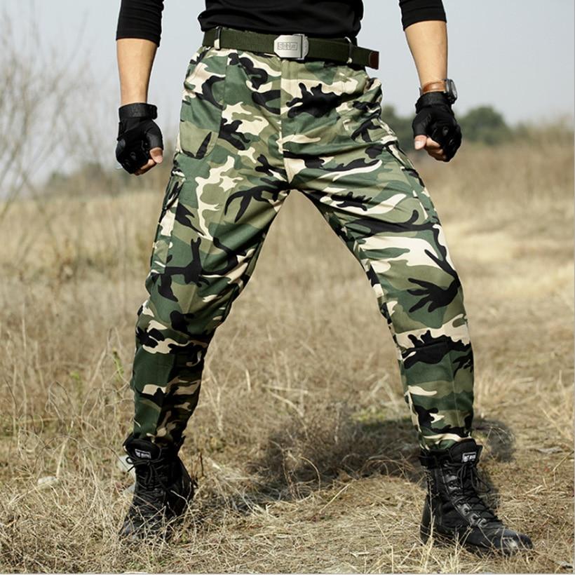 Tactical Pants Military Camouflage Hunter SWAT Trousers Army Combat CS Pants Men Tactico Camo Militar Clothing Pantalon Homme