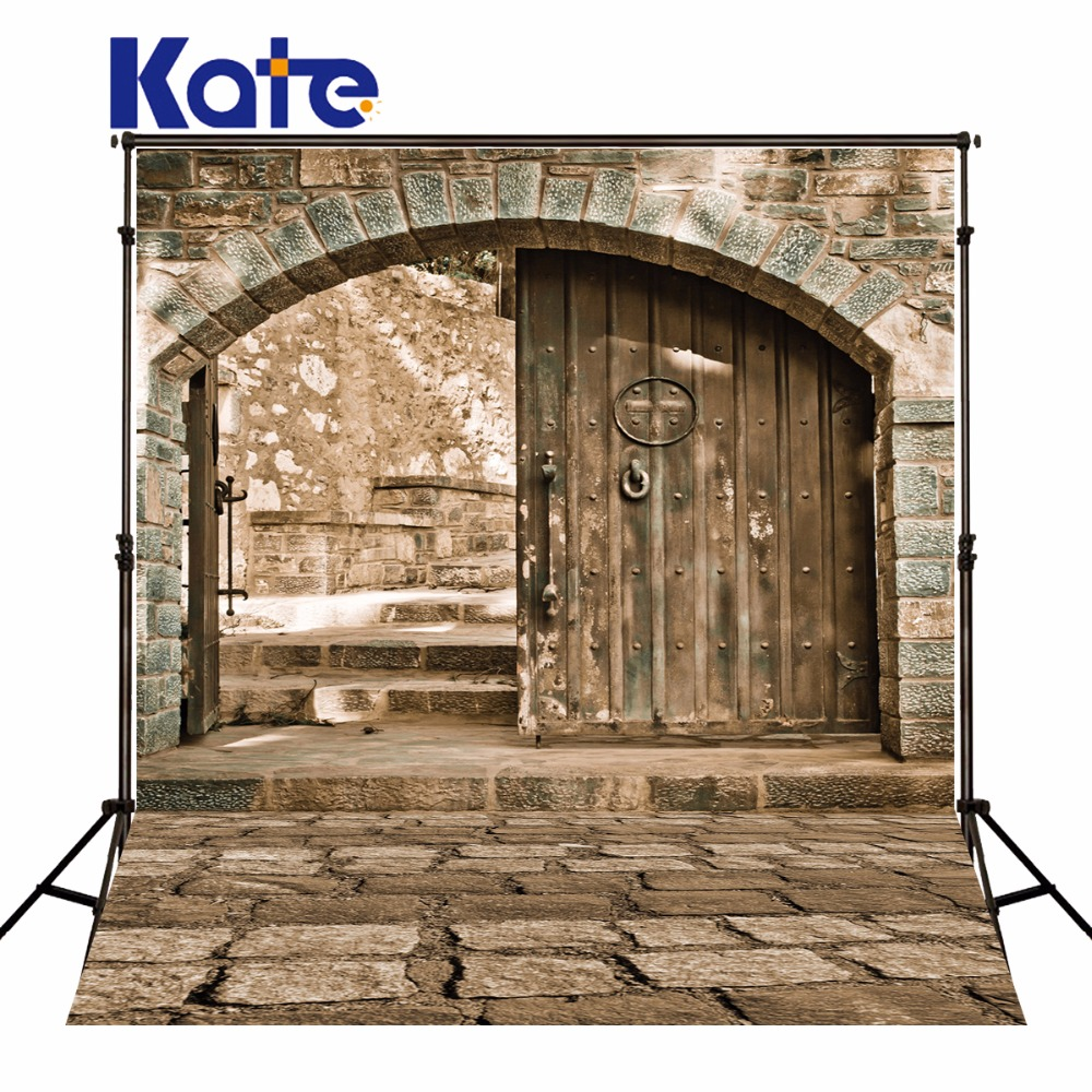 Kate Brick Wall Photography Backdrops Wood Door Retro Photo Background House For Children Backdrop сумка kate spade new york wkru2816 kate spade hanna