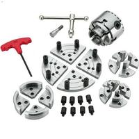 2.75 inch wood lathe chuck set 70mm 4 jaw self centering chuck four jaws woodworking tools set accessories