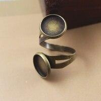 100 יח'\חבילה מגש קמע ריק טבעת עם קבושון 12 מ