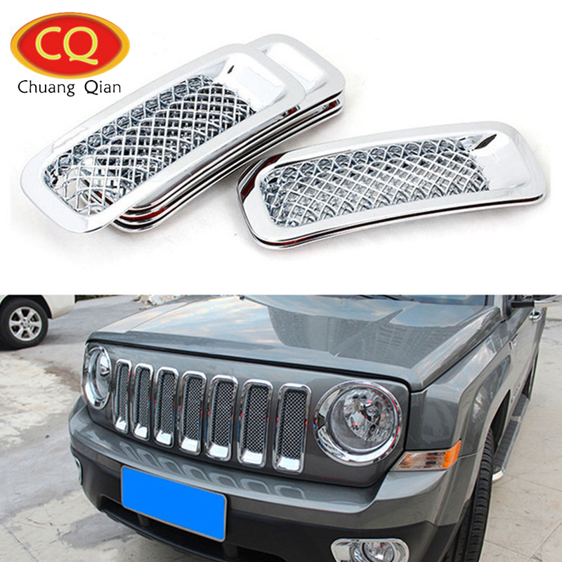 Chuang Qian Accessories 7Pcs/Set Chrome Front Grille Mesh Grill Insert Kit Cover For Jeep Patriot 2011-2016 Car Sticker блокировка руля car of qian