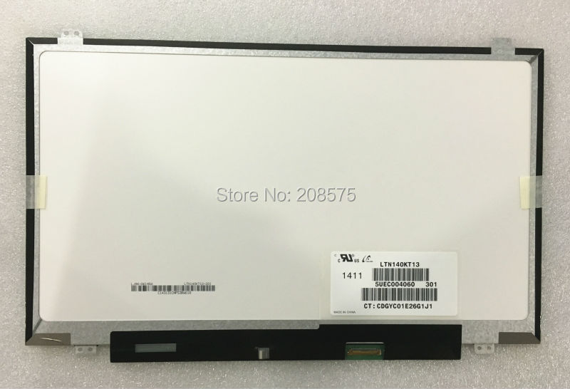 Free Shipping LTN140KT13 LP140WD2 TPB1 B140RTN02.3 N140FGE-EA2 Laptop lcd led screen 14.0