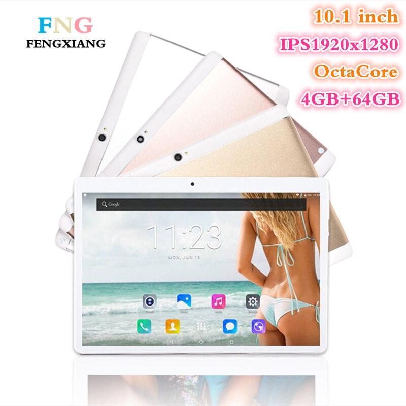 DHL Livraison 10.1 pouce Tablet PC Android 7.0 4 GB RAM 64 GB ROM Octa Core 8 Noyaux Double Caméras 8.0MP 1920*1200 IPS Téléphone comprimés + Cadeaux