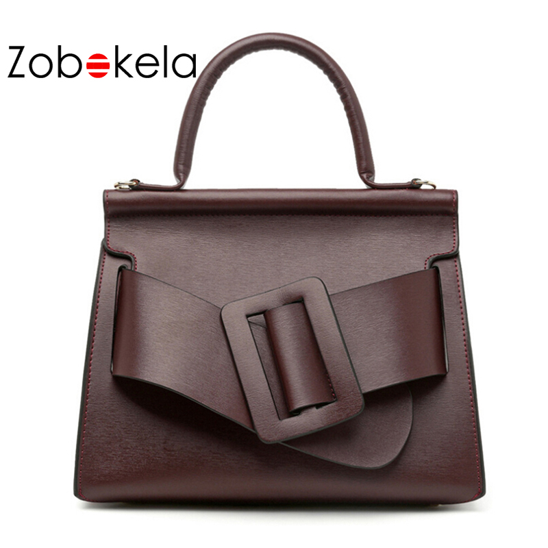 ZOBOKELA Genuine Leather Bag Women Handbags Luxury Designer Bags Handbags Women Brand Shoulder Bag High Quality Messenger Bag kmffly brand fashion women genuine leather shoulder bag female luxury handbags women high quality messenger bags designer 2017