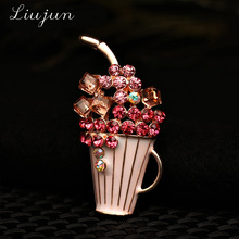 2018 Luxury Fashion Women enamel Brooch Broach Flower Cheap Wedding Pins  And Brooches Scarf Clips Wholesale 4d995370dce8