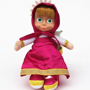 Image 2 - Маша и Медведь, игрушки с музыкой, Маша, мягкие плюшевые игрушки, Маша Y El Oso Juguetes для детей, подарки для малышей