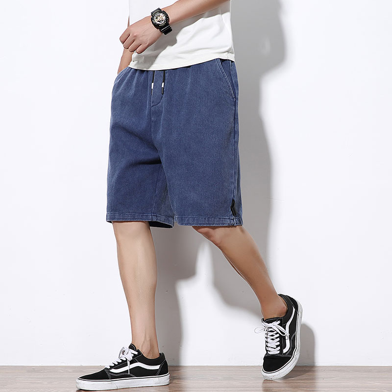 2019 Summer Cargo Shorts For Men Slim Fit Men Baggy Shorts Brand Streetwear 100% Cotton Denim Casual Mens Denim Shorts