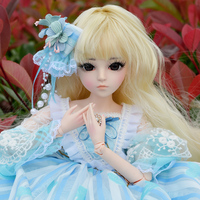 60CM BJD Doll 24'' 1/3 SD Dolls With Beauty Dress Shoes Wig Makeup Full Outfits 18 Ball Jointed Dolls for Girls Toys Gift